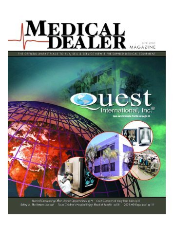Editorial: Medical Dealer Magazine, Quest Corporate Profile