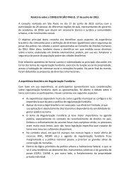 Relatório sobre a CONSULTA SÃO PAULO, 17 ... - Direito à moradia