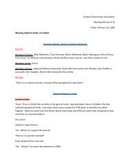 Student Government Association Meeting Minutes # 16 Friday ...