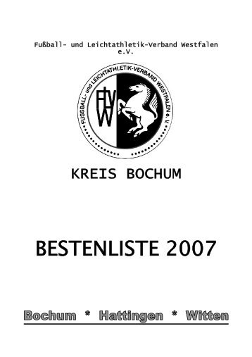 Ehrentafel 2007 - Kreis Bochum