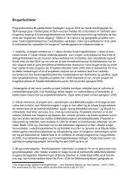 Brugerfaciliteter - årsberetning 2004 - DEFF
