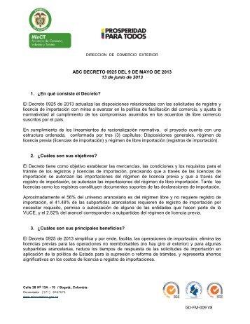 ABC DECRETO 0925 DE 2013.pdf - Vuce