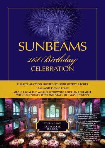 CELEBRATION - Sunbeams Music