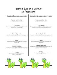 Additional preschool information, please read! - Louisville ...