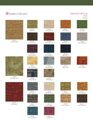 Upholstery Fabrics by - American Seating