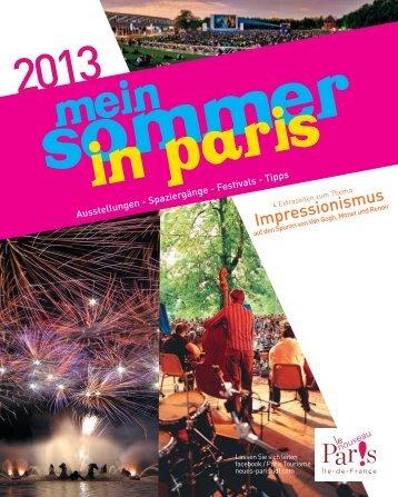 Mein sommer in Paris - Espace professionnel tourisme Paris Île-de ...