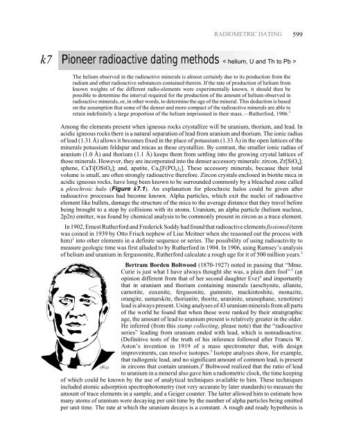 different methods of radioactive dating