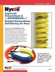 SUPERCOIL® . . . Polyurethane Self-Storing Air Hose