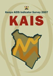 Kenya AIDS Indicator Survey 2007 - Kenya National AIDS & STI ...