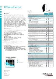 ReSound Verso 77 - Fiche technique