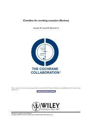 Clonidine for smoking cessation (Review) - NCSCT