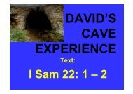 David's Cave Experience by brother Yiu Huat