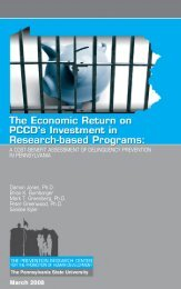 The Economic Return on PCCD's Investment in Research-based