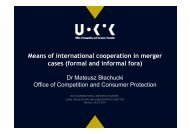 Means of international cooperation in merger cases (formal and ...