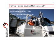 Helvea – Swiss Equities Conference 2011