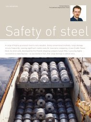 Safety of steel transports - Extranet