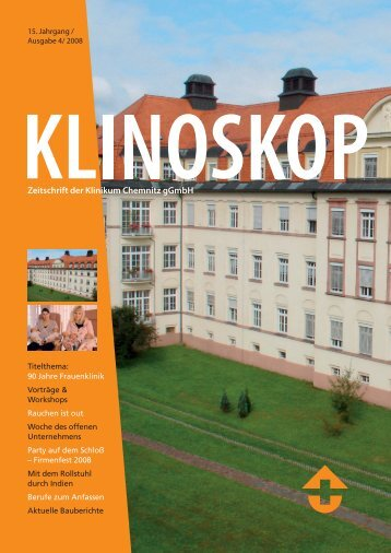 Klinoskop Nr. 2/2008 ( 3.9 MB im PDF - Klinikum Chemnitz