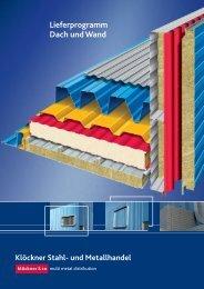 Lieferprogramm Dach und Wand - Klöckner Stahl