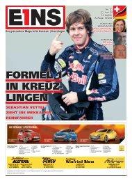 FORMEL 1 IN KREUZ- LINGEN - E1NS-Magazin