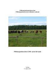 Põllumajandussektori 2010. aasta ülevaade