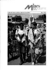 1-800-446-9488, ext 3294 - Mines Magazine - Colorado School of ...