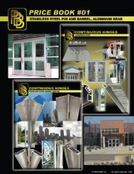 © 2009 PBB, Inc. All rights reserved. 1/09 - Access Hardware Supply