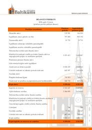 Finanšu rādītāji par 2006.gada 1. ceturksni - Baltikums