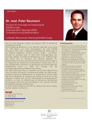 Dr. med. Peter Baumann