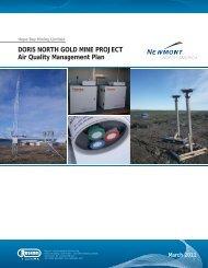 DORIS NORTH GOLD MINE PROJECT Air Quality ... - NIRB
