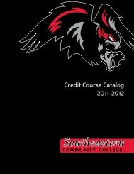 Credit Course Catalog 2011-2012 - Southeastern Community College