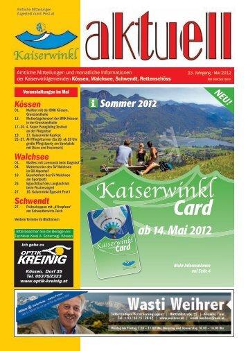 Kaiserwinkl Aktuell Mai 2012 - Gemeinde Kössen