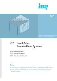 Neu K37 K37 Knauf Cubo Raum-in-Raum Systeme