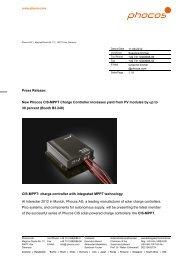 Press Release Intersolar 2012-06 - Phocos.com