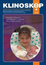 Klinoskop Nr. 4/2006 ( 5.5 MB im PDF - Klinikum Chemnitz