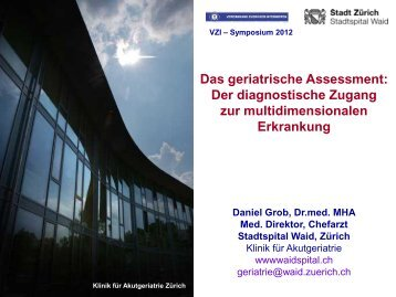 Das geriatrische Assessment - Vereinigung Zuercher Internisten