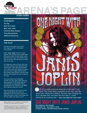 ONE NIGHT WITH JANIS JOPLIN - Arena Stage