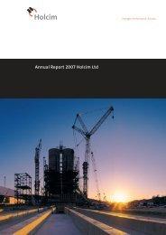 Annual Report 2007 Holcim Ltd