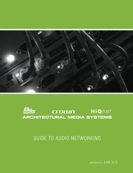 guide to audio networking - Architectural Media Systems - Harman