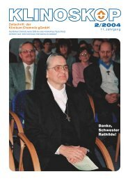 Klinoskop Nr. 2/2004 ( 2.4 MB im PDF - Klinikum Chemnitz