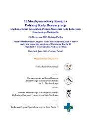 Program Kongresu - Polska Rada Resuscytacji