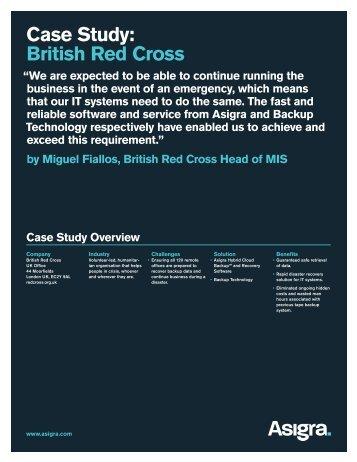 Case Study: British Red Cross - Asigra