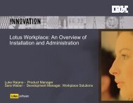 Lotus Workplace: An Overview of Installation and ... - Lotus Sandbox