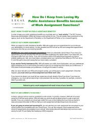 How Do I Keep from Losing My Public Assistance Benefits because ...