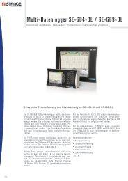 Multi-Datenlogger SE-604-DL / SE-609-DL - Stange Elektronik GmbH