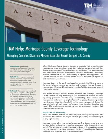 Maricopa County, Arizona - Total Resource Management