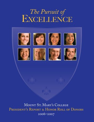 President's Report 2006-2007 - Mount St. Mary's College