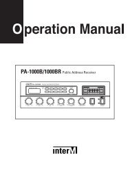 PA-1000B/1000BR Public Address Receiver - Inter-M