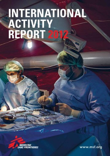 INTERNATIONAL ACTIVITY REPORT 2012