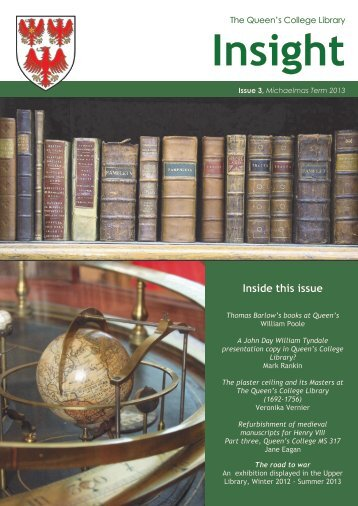 Inside this issue - The Queen's College - University of Oxford