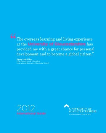 ''The overseas learning and living experience at the University of ...